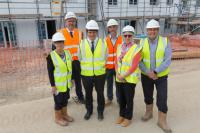 Johnny Mercer MP visits second phase of building at Westward's 100% affordable homes site in Southway