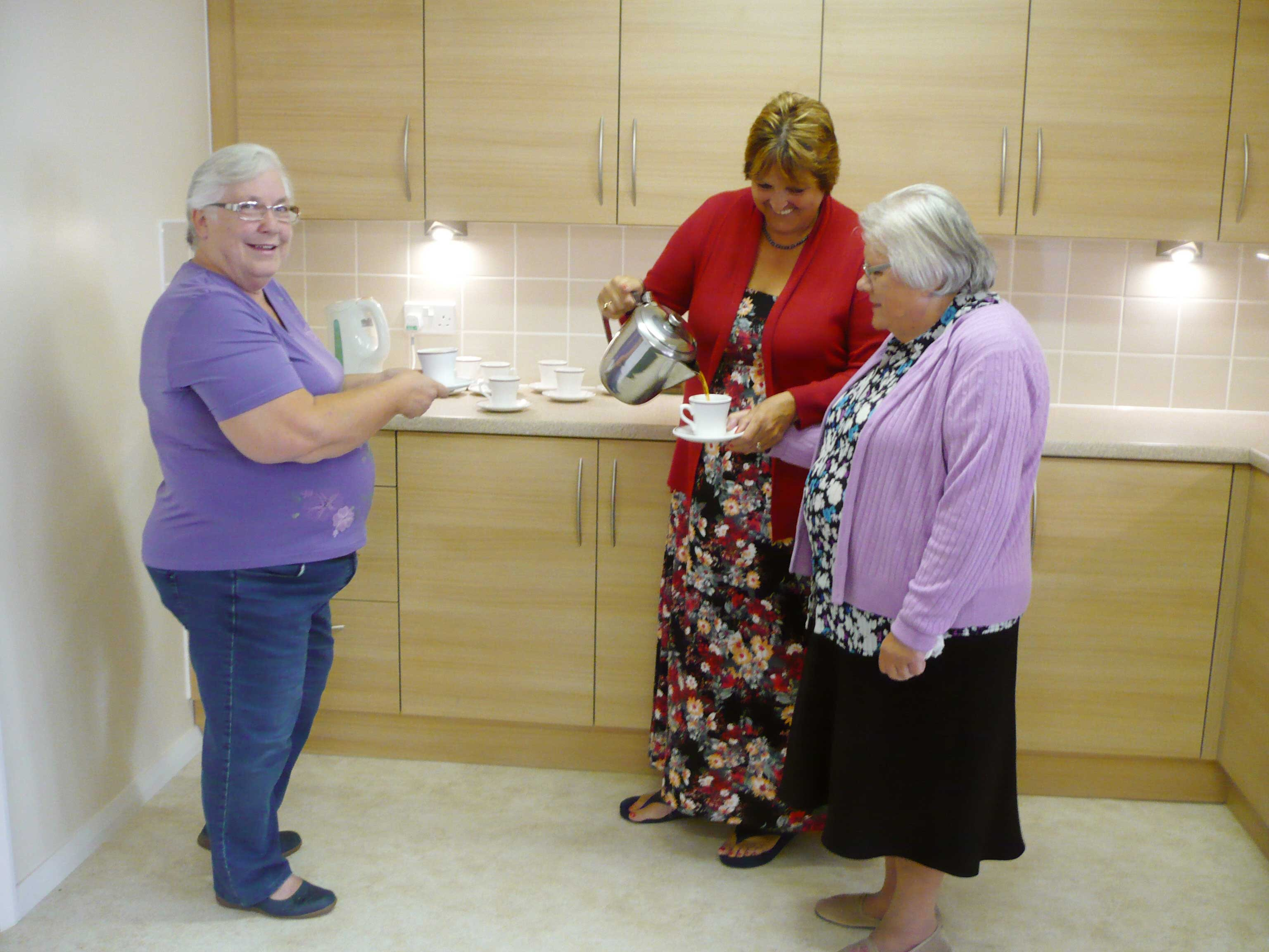 Businesses aid sheltered scheme's lunch club