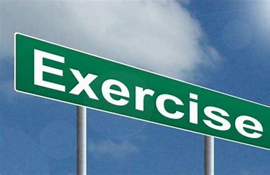 Exercise word on road sign image